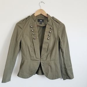 H&M military style jacket coat